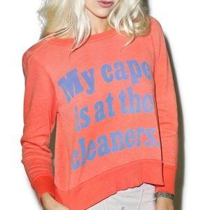 WILDFOX   Orange Cape Sweatshirt